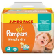 Pampers Simply Dry Maxi Jumbo Pack (Gr. 4, 7-18kg) 74
